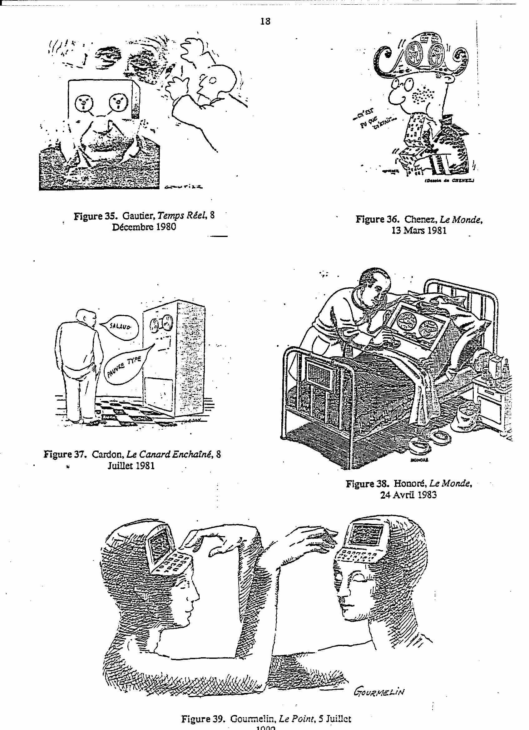 le mythe des ordinateurs et dessins humoristiques